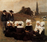 Dagnan-Bouveret, Pascal-Adolphe Bretonnes au Pardon [Breton Women at a Pardon], 1887 Art Reproductions