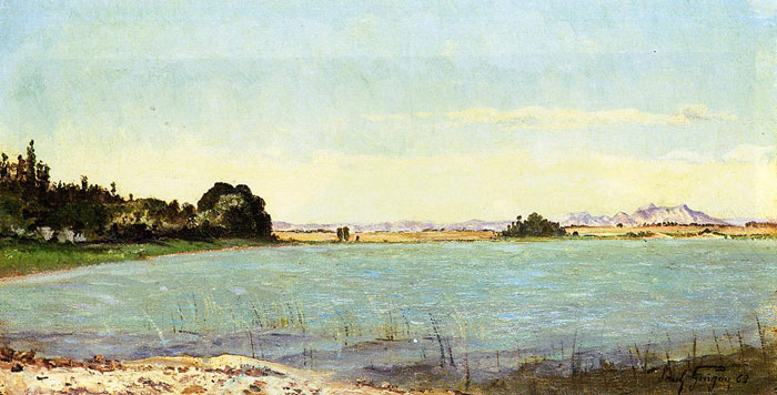 A Lake in Southern France, 1863  Painting Reproductions
