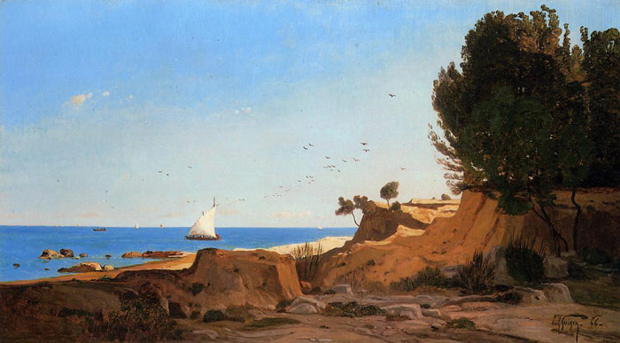 Around the Cap-Couronne near Marseille, 1866  Painting Reproductions