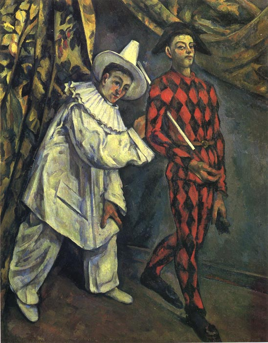 Pierrot and Harlequin , 1888  Painting Reproductions