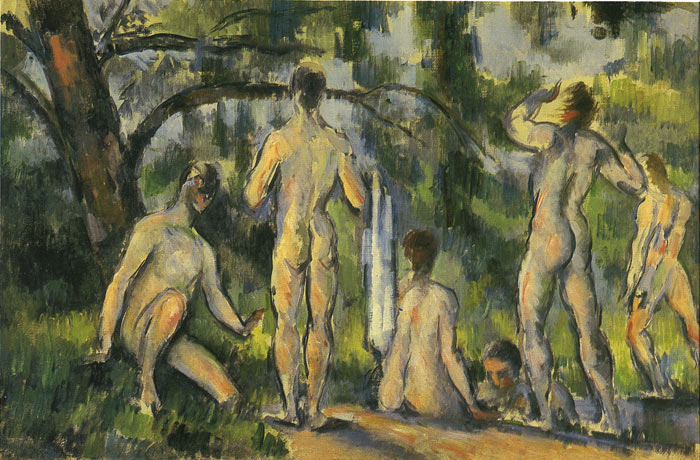 Bathers, 1894 Cezanne, Paul Painting Reproductions