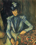 Cezanne, Paul Woman in Blue, 1899 Art Reproductions