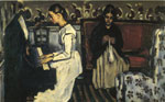 Cezanne, Paul Young Girl at the Piano - Overture to Tannhauser, 1868 Art Reproductions
