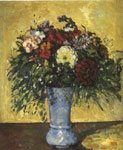 Cezanne, Paul Bouquet in a Blue Vase, 1873 Art Reproductions