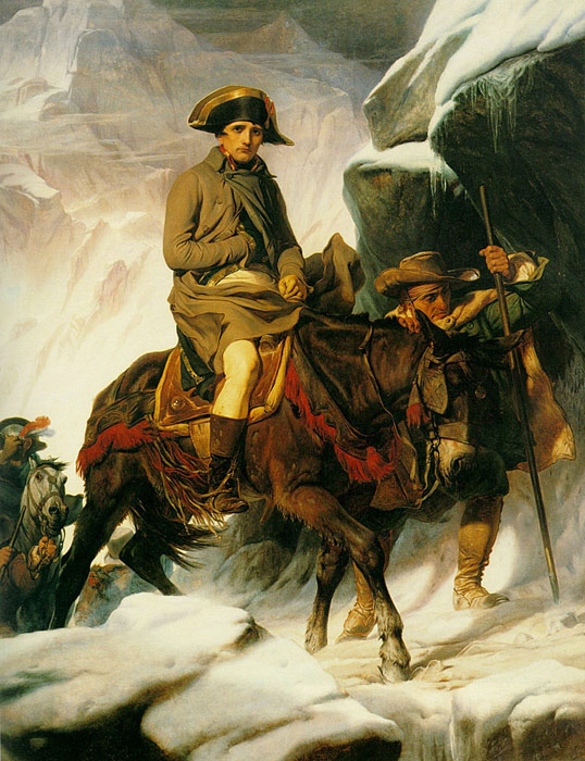 Napoleon Crossing the Alps, 1850  Painting Reproductions