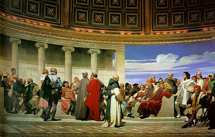 Hemicycle of the Ecole des Beaux-Arts, 1814  Painting Reproductions