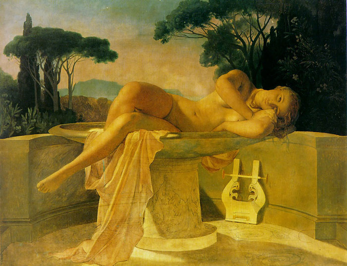 Girl in a Basin, 1845  Painting Reproductions