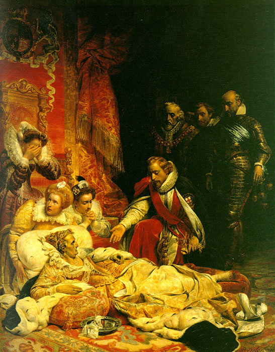The Death of Elizabeth, 1828  Painting Reproductions