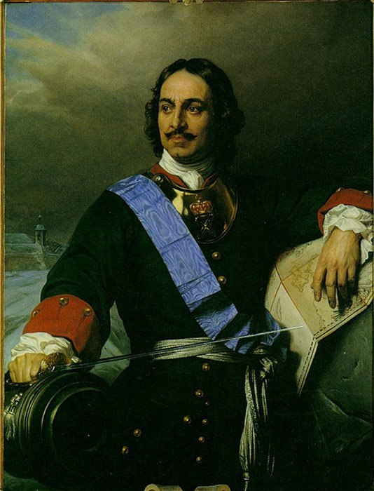 Peter the Great of Russia, 1838  Painting Reproductions