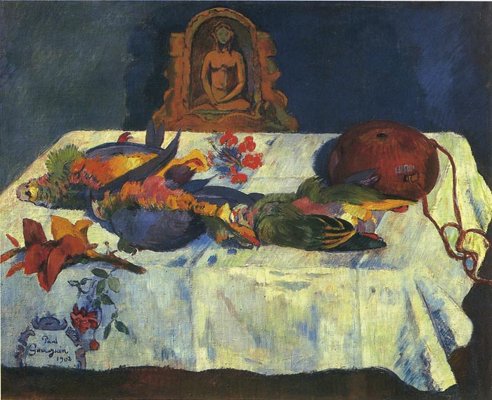 Still Life with Parrots, 1902 Gauguin, Paul Painting Reproductions
