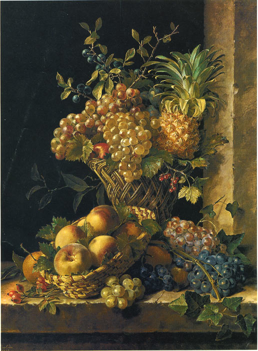 Stilleben mit  Obst, 1833  Painting Reproductions