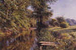 Monsted, Peder Mork Calm Waters, 1908 Art Reproductions
