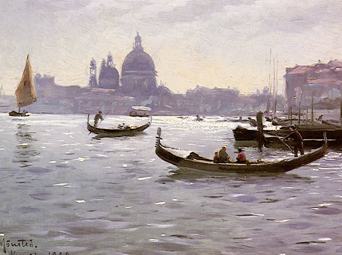 On The Venetian Lagoon, 1928 Monsted, Peder Mork Painting Reproductions
