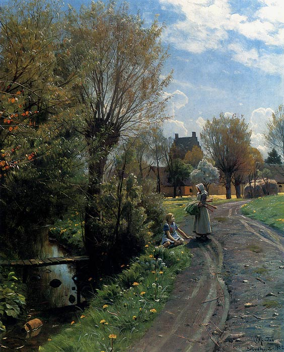 By The River, Brondbyvester, 1922  Painting Reproductions