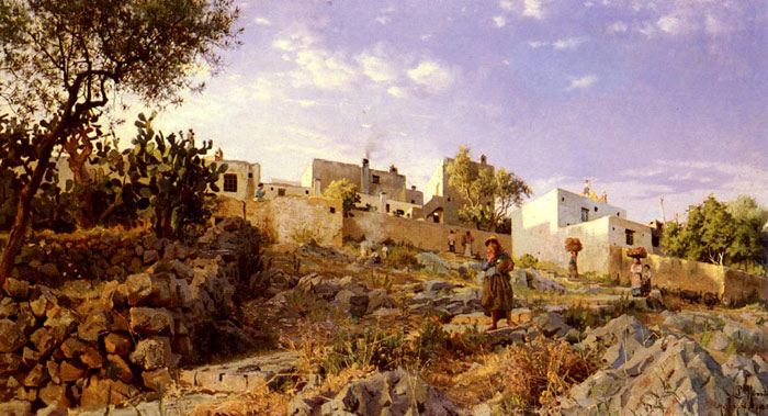 A View Of Anacapri, 1885  Painting Reproductions