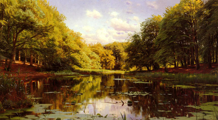 Paintings Monsted, Peder Mork