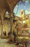 6071 The Cloister, Taormina, 1885 Art Reproductions