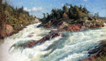 Monsted, Peder Mork The Raging Rapids, 1897 Art Reproductions