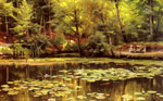 Monsted, Peder Mork Waterlilies, 1920 Art Reproductions
