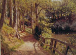 Monsted, Peder Mork The Forest Path Art Reproductions