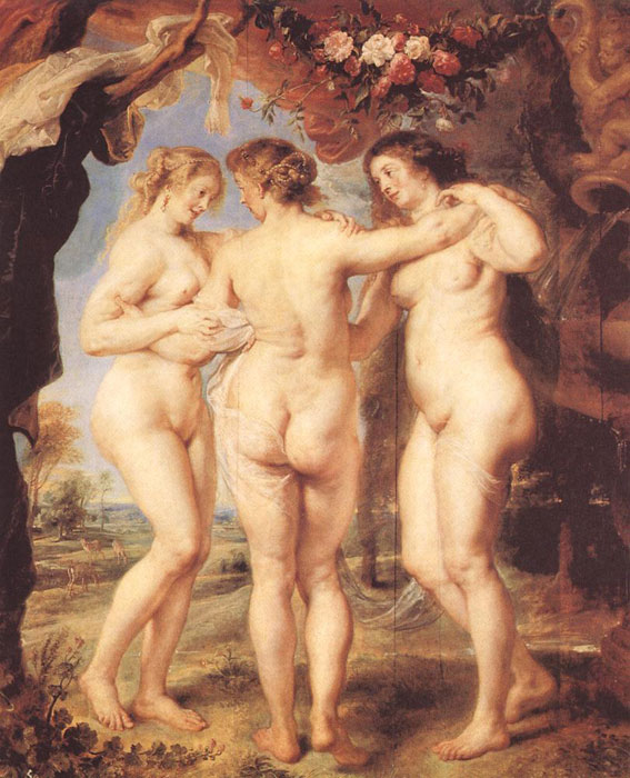 The Three Graces,1639  Painting Reproductions