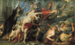 Rubens, Peter Paul The Consequences of War, 1637-1638 Art Reproductions