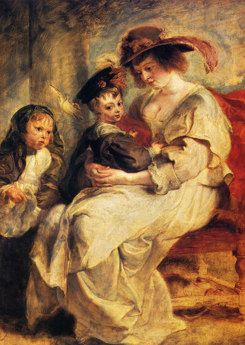 Helene Fourment With Two Of Her Children, Claire-Jeanne And Francois  Painting Reproductions