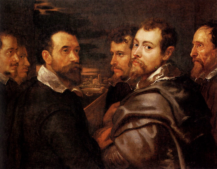 The Mantuan Circle Of Friends, 1602  Painting Reproductions
