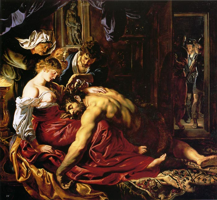 Samson and Dalila, 1609 Rubens, Peter Paul Painting Reproductions