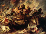 Rubens, Peter Paul The Combat of the Amazones, 1618 Art Reproductions