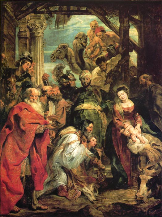 Adoration of the Mages, 1624 Rubens, Peter Paul Painting Reproductions