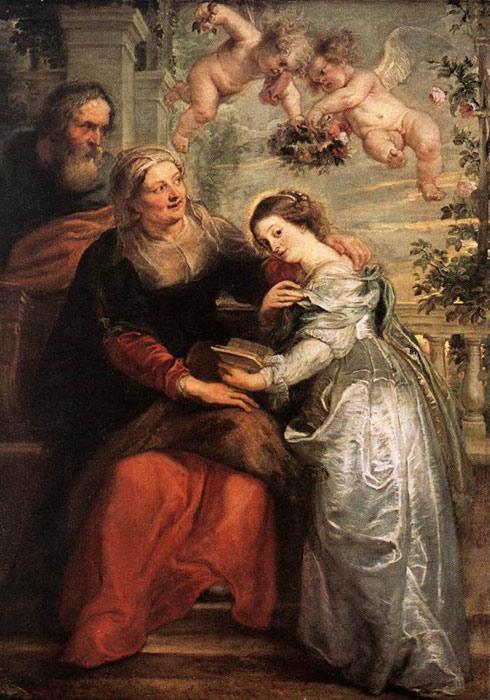 The Education of the Virgin, 1625-1626  Painting Reproductions