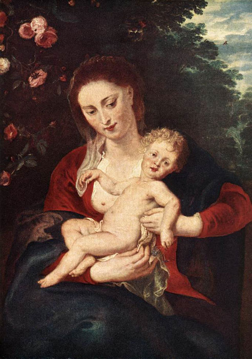 Virgin and Child, 1620-1624  Painting Reproductions