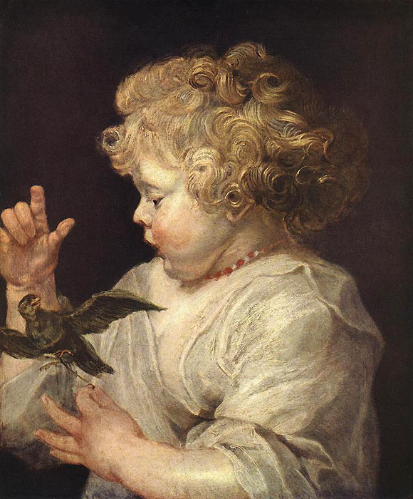 Boy with Bird, c.1616  Painting Reproductions