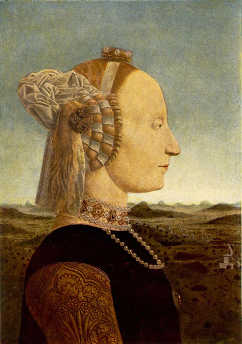 Portrait of Battista Sforza, 1465-1466  Painting Reproductions