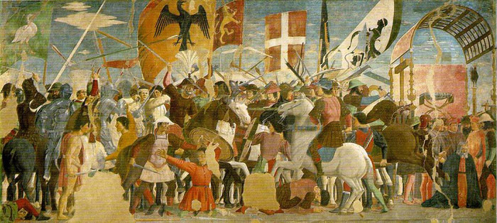 Battle between Heraclius and Chosroes, 1460  Painting Reproductions