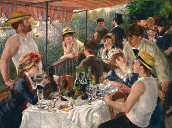 The Luncheon of the Boating Party , 1881 Renoir, Pierre Auguste Painting Reproductions