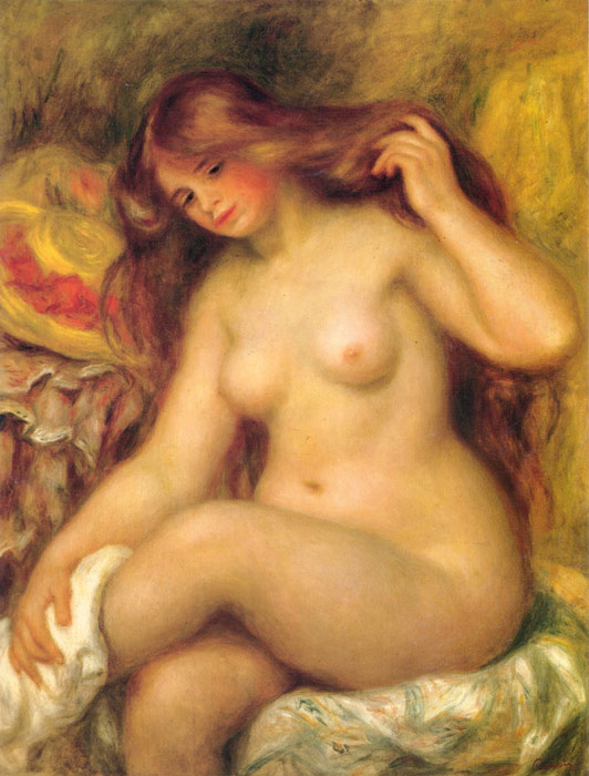 Bather with Blonde Hair, 1904-1906 Renoir, Pierre Auguste Painting Reproductions
