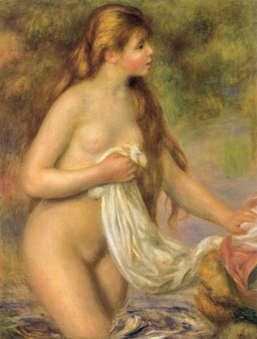 Bather with Long Hair,  c.1895  Painting Reproductions