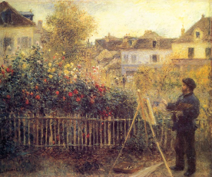 Claude Monet Painting in his Garden at Argenteuil,  1875  Painting Reproductions