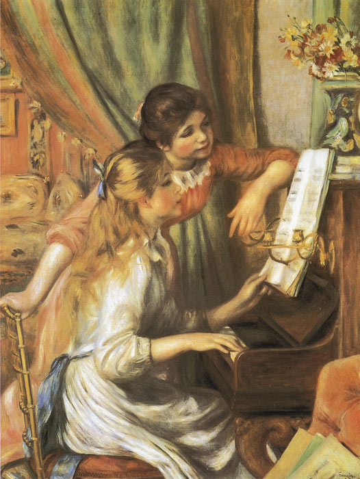 Girls at the Piano, 1892  Painting Reproductions
