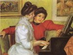 Renoir, Pierre Auguste Yvonne and Christine Lerolle Playing the Piano, 1897 Art Reproductions