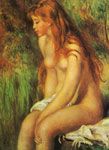 Renoir, Pierre Auguste Seated Bather, 1893 Art Reproductions