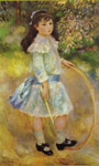 Renoir, Pierre Auguste Girl with a Hoop, 1885 Art Reproductions