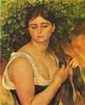Renoir, Pierre Auguste Girl Braiding her Hair, 1885 Art Reproductions