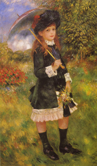 Girl with a Parasol, 1883  Painting Reproductions