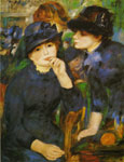 Renoir, Pierre Auguste Two Girls in Black, 1881 Art Reproductions