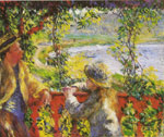 Renoir, Pierre Auguste By the Lake, 1880 Art Reproductions