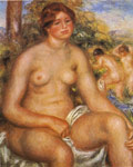 Renoir, Pierre Auguste Seated Bather, 1914 Art Reproductions