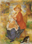 Renoir, Pierre Auguste Mother Nursing Her Child, 1886 Art Reproductions
